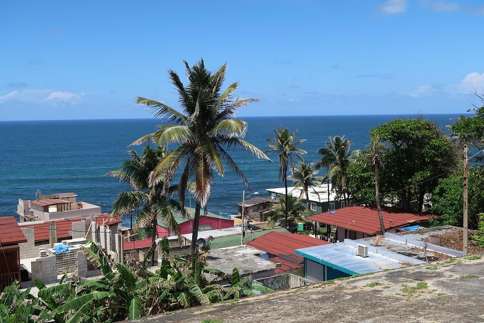 A view of the ocean in San Juan